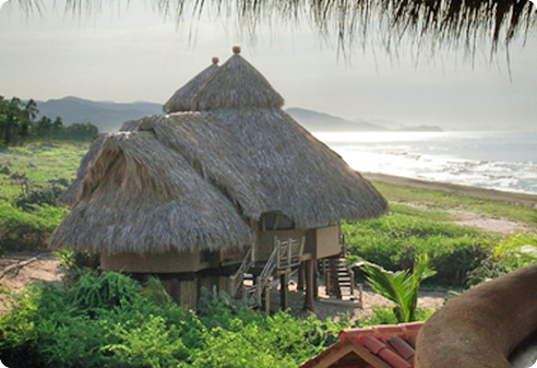 Huts at Playa Viva restort